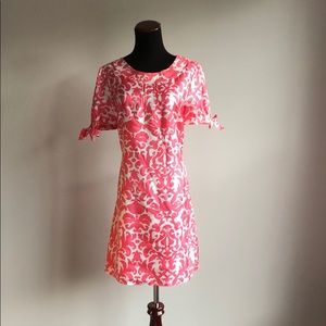 Lilly Pulitzer Silk Tunic Dress with Tie Sleeves